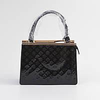 Женская деловая сумочка черная лаковая
