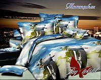 Полуторная детская постель Мотоциклы. Домашний текстиль. Детский текстиль.