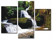 "Модульная картина из 3-х частей ""Водопад"""