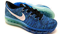 Мужские кроссовки Nike air max Flyknit Blue