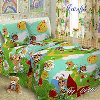Постельное белье Пчелки. Полуторная постель для детей. Лучший выбор постельного.
