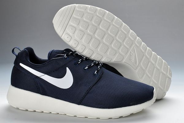 Кроссовки женские Nike Roshe run II Ladies Dark Blue White Mesh Cambridge