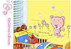 Цветные наклейки медвежонок на стену декор для детской комнаты, фото 4