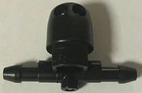 Форсунка (разбрызгиватель) омывателя (стеклоомывателя) лобового (ветрового) стекла левая (проходная) GM 1451246 13118143  OPEL Astra-H