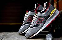Кроссовки мужские New Balance 997 grey-red