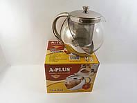 Заварочный чайник, стеклянный в нержавеющей стали (750мл)
