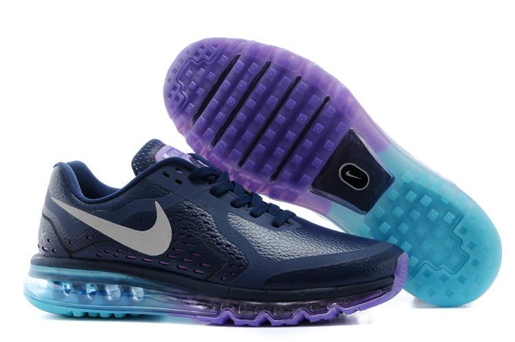 Кроссовки мужские Nike Air max 2014 leather Blue-Fiolet