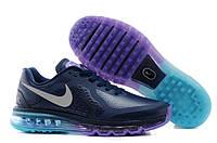 Кроссовки мужские Nike Air max 2014 leather Blue-Fiolet, фото 1