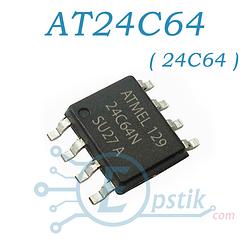 Память AT24C64BN (24C064), энергонезависимая EEPROM 64Kb I2C-compatible 2-wire Seria, SOP-8 ATMEL