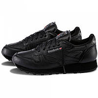 Мужские кроссовки  Reebok CL Classic black leather