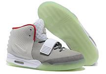 Мужские кроссовки Nike air Yeez 2 white green