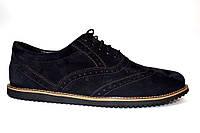 Черные броги туфли оксфорды мужские замшевые Rosso Avangard Ferraro Black Vel демисезонные