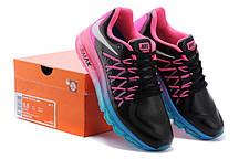 Кроссовки женские Nike Air max 2015 кожаные черно-малиновые