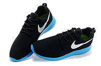 Женские кроссовки Nike Roshe Run Suede black-blue