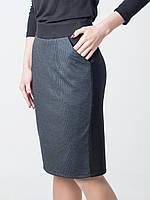 Классическая женская юбка-карандаш Одри в клетку
