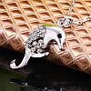 Женская подвеска Дельфин 18K белое золото, цепочка 45 + 5 см., фото 3