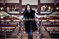 Шикарный жилет из меха финского песца в шоу руме г.Харькова, широкая раскладка меха, 46 размер в наличии
