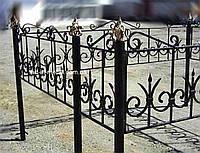 Кованая ритуальная оградка 29