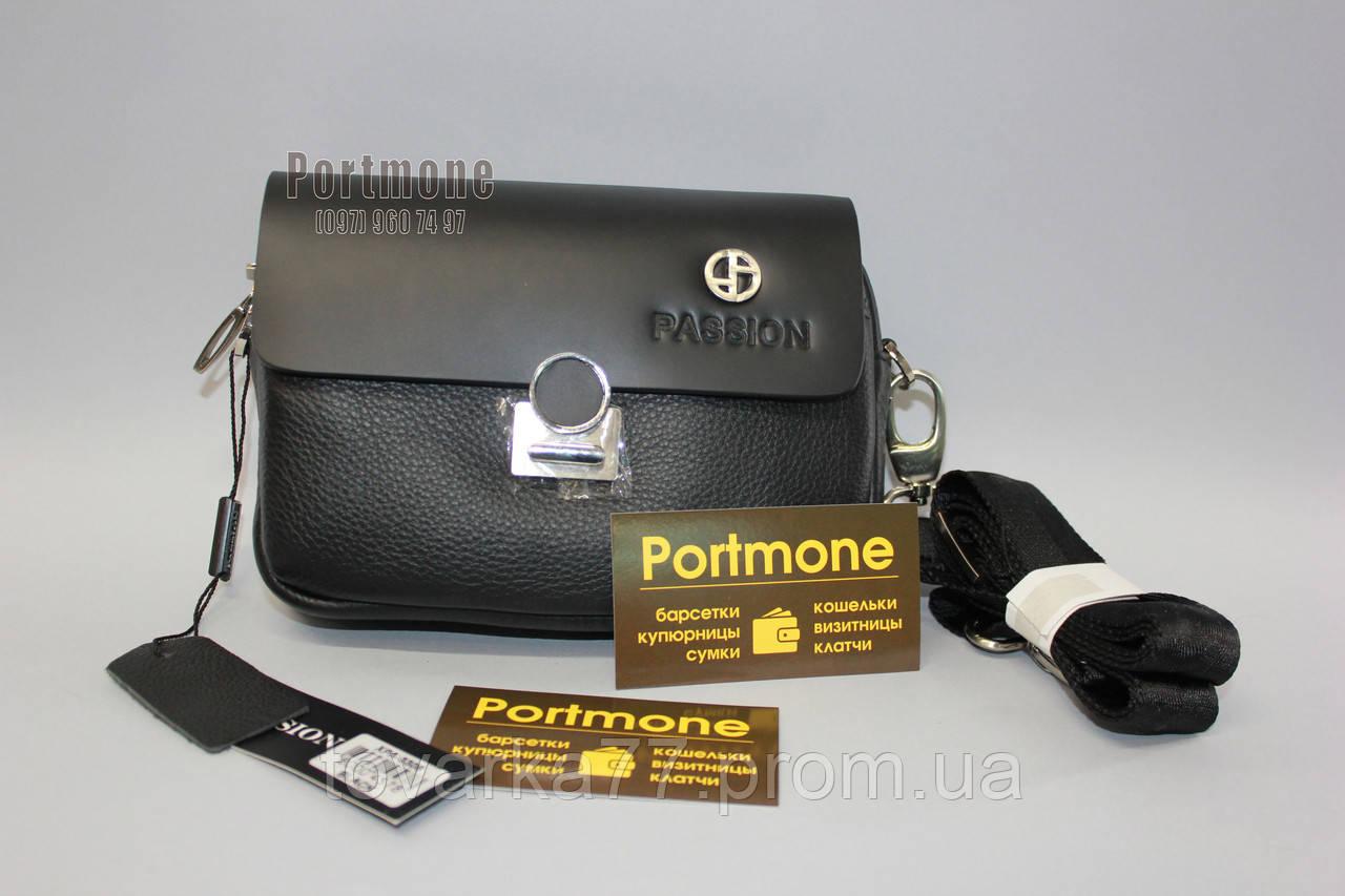 e831097c7231 Мужская кожаная сумка клатч Passion черный - Интернет-магазин