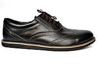 Черные броги туфли оксфорды мужские кожаные Rosso Avangard Ferraro Black Pelle демисезонные
