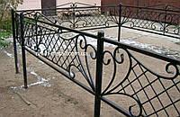 Кованая ритуальная оградка 30