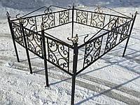 Кованая ритуальная оградка 32
