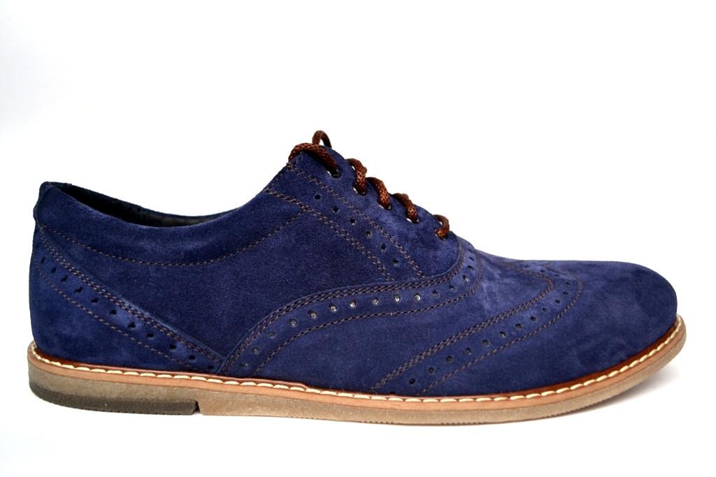 dd789d1b4 ... Синие броги туфли оксфорды мужские замшевые Rosso Avangard Romano Blu  Vel демисезонные, ...