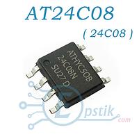 Память AT24C08BN (24C08) энергонезависимая, 8 Кбит, 1К x 8бит, EEPROM SOP-8