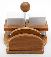 Набор для специй (солонка, перечница, салфетница)