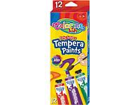 Темперные краски в тубах 12 цветов Colorino