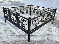 Кованая ритуальная оградка 35