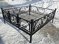 Кованая ритуальная оградка 36