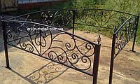 Кованая ритуальная оградка 38