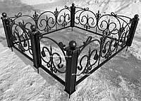 Кованая ритуальная оградка 39