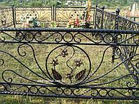 Кованая ритуальная оградка 40