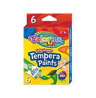Темперные краски в тубах 6 цветов Colorino