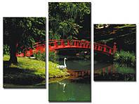 """Модульная картина из 3-х частей """"Китайский мостик"""""""