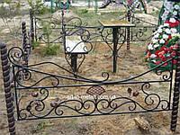 Кованая ритуальная оградка 43