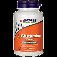 Л-глютамин / L-Glutamine, 500 мг 120 капсул