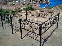Кованая ритуальная оградка 46