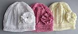 Ажурная тонкая шапка для девочки , фото 2
