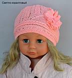 Ажурная тонкая шапка для девочки , фото 9