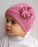 Ажурная тонкая шапка для девочки , фото 5