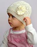 Ажурная тонкая шапка для девочки , фото 10