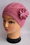 Ажурная тонкая шапка для девочки , фото 4