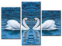 "Модульная картина из 3-х частей ""Лебеди"""