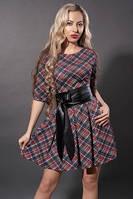Молодежное платье  373-09 красная клетка, размеры 40,44,46,48, фото 1