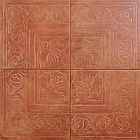 Декор з 4-х плиток Zeus Ceramica Cotto Classico Rosso 650х650 (RAX-22)
