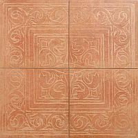 Декор з 4-х плиток Zeus Ceramica Cotto Classico Rosa 650х650 (RAX-27)