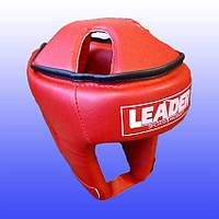 Шлем боксерский LEADER / Винил / тип 2 M, Красный